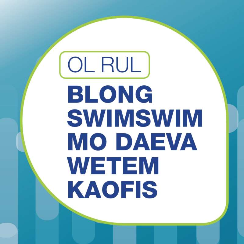 Bislama poster for swimming with dugongs